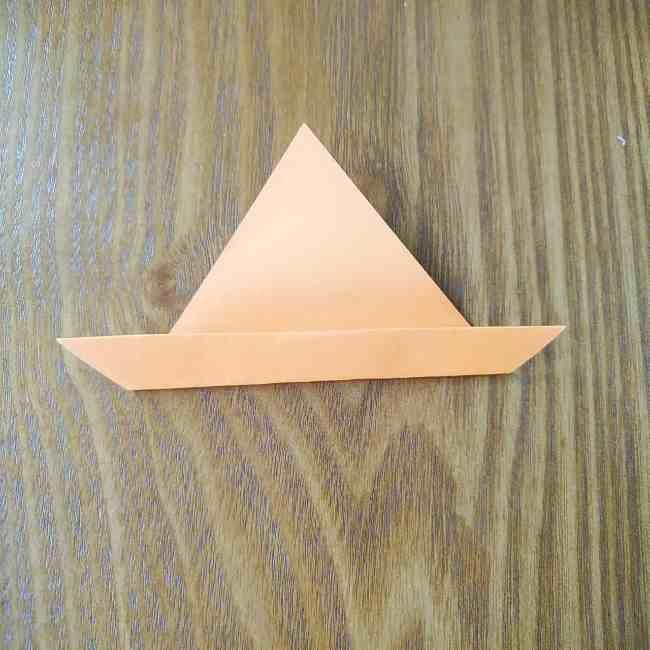 ハロウィン仕様のホラーマンの折り紙☆帽子の折り方 (2)