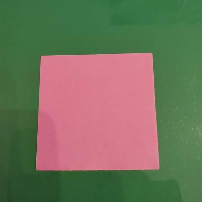 プリキュアくるるん 折り紙の折り方作り方【トロピカルージュ】①耳(1)
