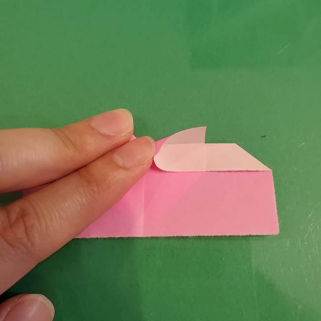 プリキュアくるるん 折り紙の折り方作り方【トロピカルージュ】①耳(11)
