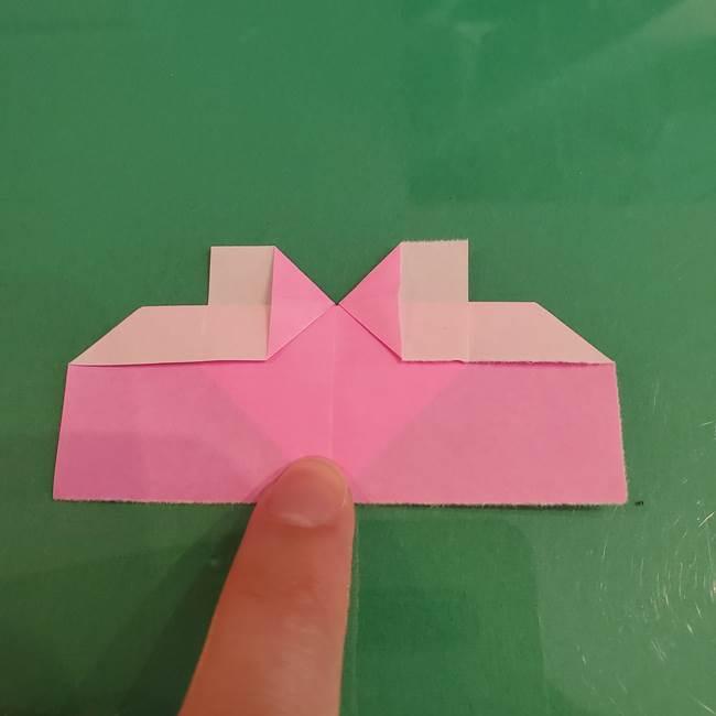 プリキュアくるるん 折り紙の折り方作り方【トロピカルージュ】①耳(12)