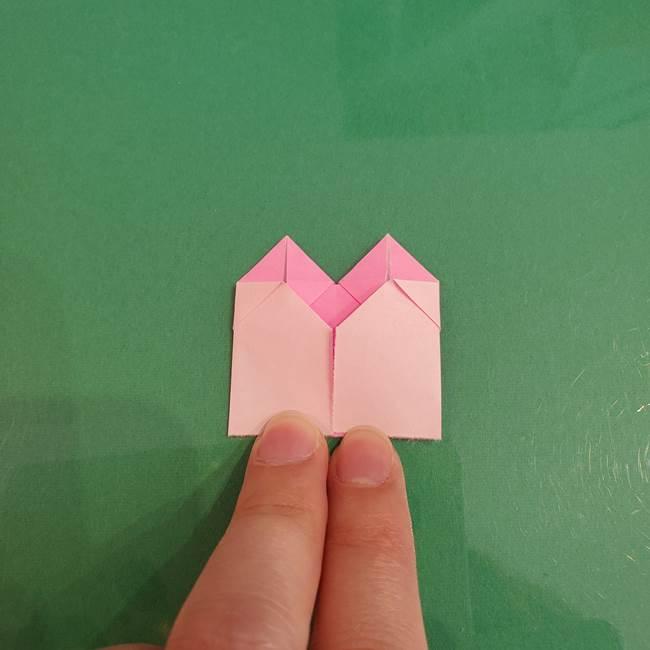 プリキュアくるるん 折り紙の折り方作り方【トロピカルージュ】①耳(14)