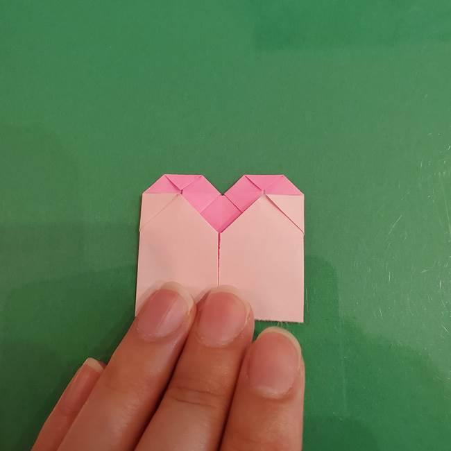 プリキュアくるるん 折り紙の折り方作り方【トロピカルージュ】①耳(15)