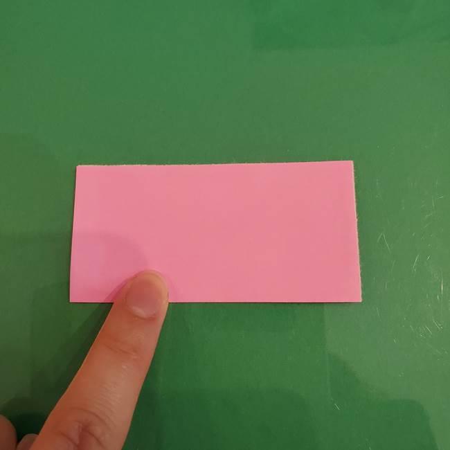 プリキュアくるるん 折り紙の折り方作り方【トロピカルージュ】①耳(2)
