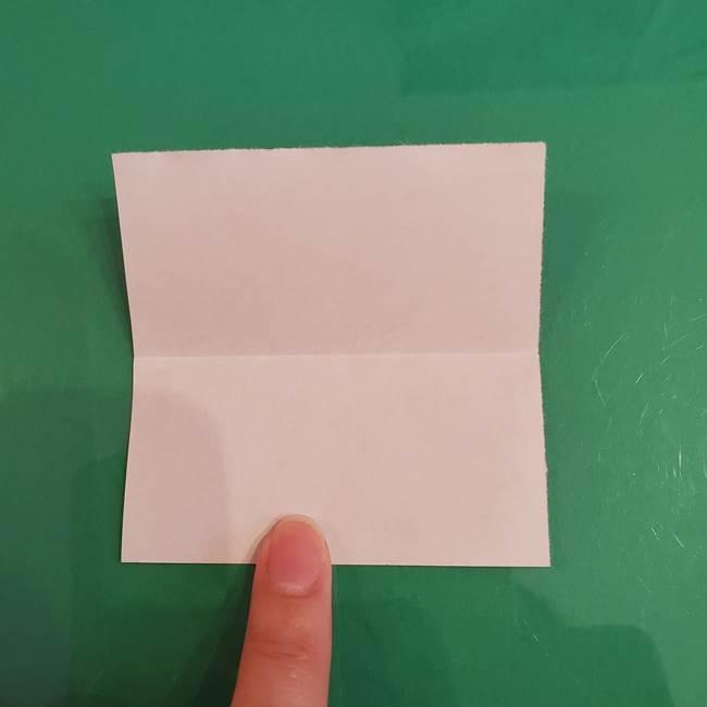 プリキュアくるるん 折り紙の折り方作り方【トロピカルージュ】①耳(3)