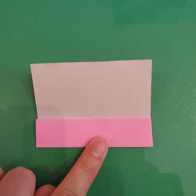 プリキュアくるるん 折り紙の折り方作り方【トロピカルージュ】①耳(4)