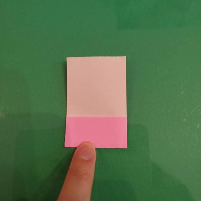 プリキュアくるるん 折り紙の折り方作り方【トロピカルージュ】①耳(5)