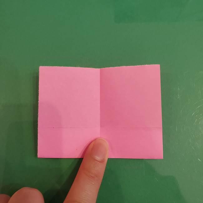 プリキュアくるるん 折り紙の折り方作り方【トロピカルージュ】①耳(6)