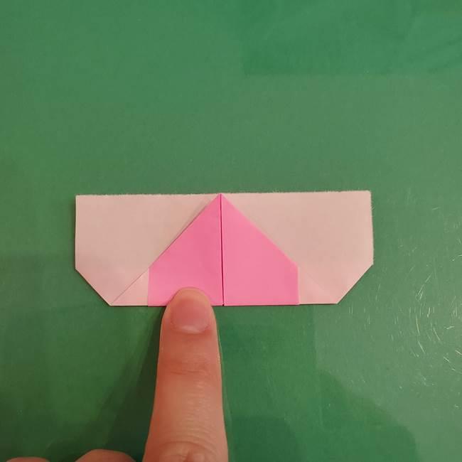プリキュアくるるん 折り紙の折り方作り方【トロピカルージュ】①耳(9)