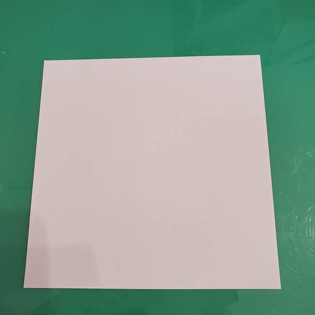 プリキュアくるるん 折り紙の折り方作り方【トロピカルージュ】②顔(1)