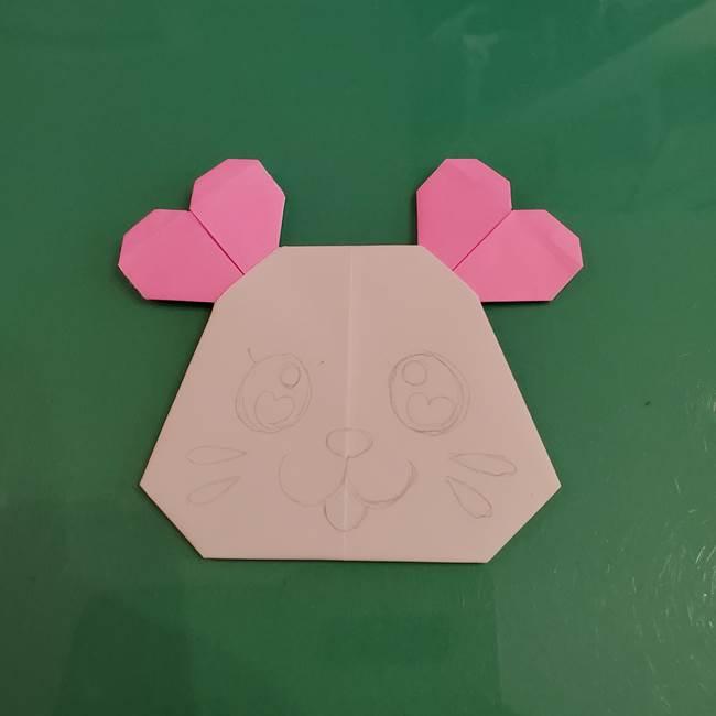 プリキュアくるるん 折り紙の折り方作り方【トロピカルージュ】③完成(5)