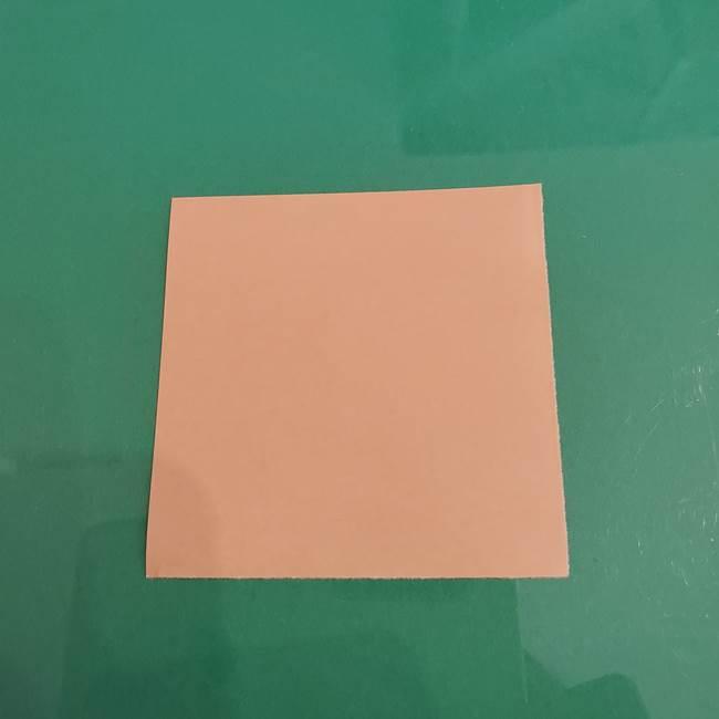 プリキュアのローラ 折り紙の折り方作り方【トロピカルージュ キュアラメール】①顔(1)