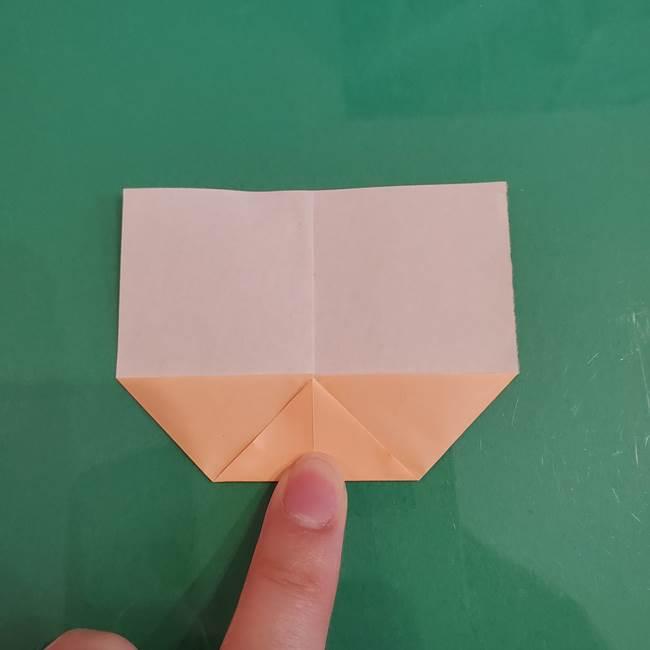 プリキュアのローラ 折り紙の折り方作り方【トロピカルージュ キュアラメール】①顔(5)