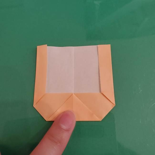 プリキュアのローラ 折り紙の折り方作り方【トロピカルージュ キュアラメール】①顔(6)