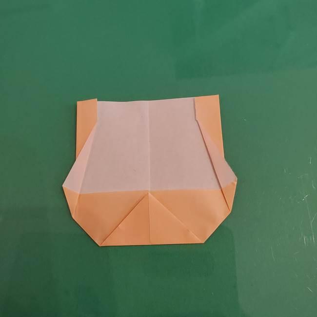 プリキュアのローラ 折り紙の折り方作り方【トロピカルージュ キュアラメール】①顔(7)