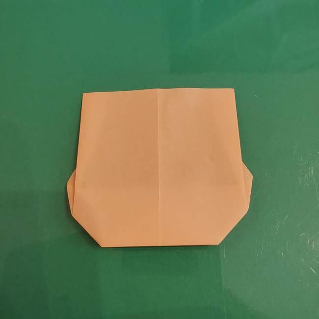 プリキュアのローラ 折り紙の折り方作り方【トロピカルージュ キュアラメール】①顔(8)