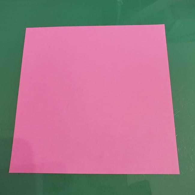 プリキュアのローラ 折り紙の折り方作り方【トロピカルージュ キュアラメール】②前髪(1)