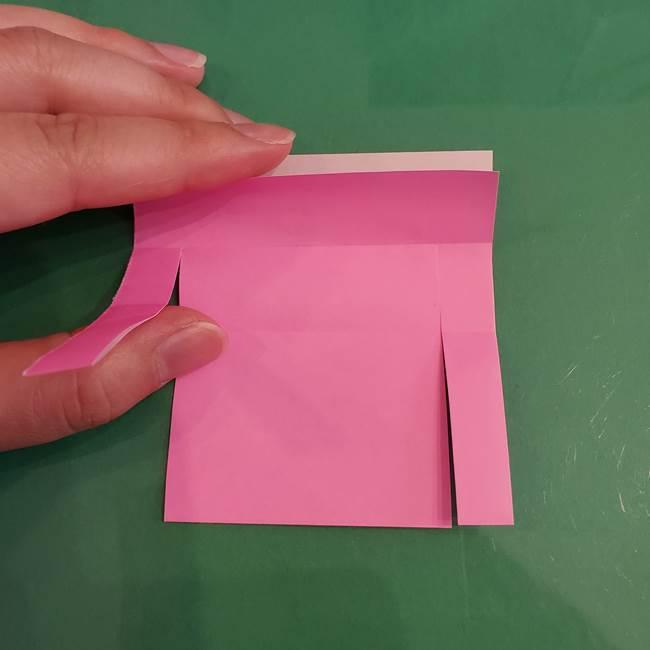 プリキュアのローラ 折り紙の折り方作り方【トロピカルージュ キュアラメール】②前髪(10)