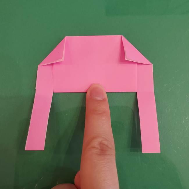 プリキュアのローラ 折り紙の折り方作り方【トロピカルージュ キュアラメール】②前髪(12)
