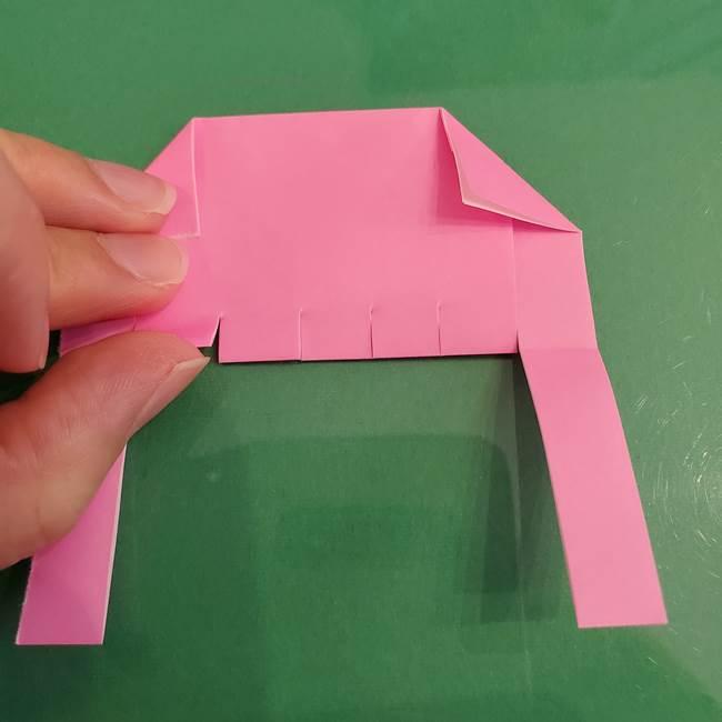 プリキュアのローラ 折り紙の折り方作り方【トロピカルージュ キュアラメール】②前髪(13)