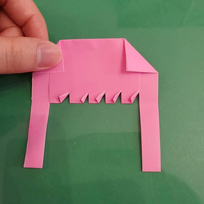 プリキュアのローラ 折り紙の折り方作り方【トロピカルージュ キュアラメール】②前髪(14)