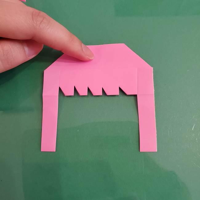 プリキュアのローラ 折り紙の折り方作り方【トロピカルージュ キュアラメール】②前髪(15)