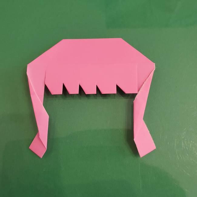 プリキュアのローラ 折り紙の折り方作り方【トロピカルージュ キュアラメール】②前髪(17)