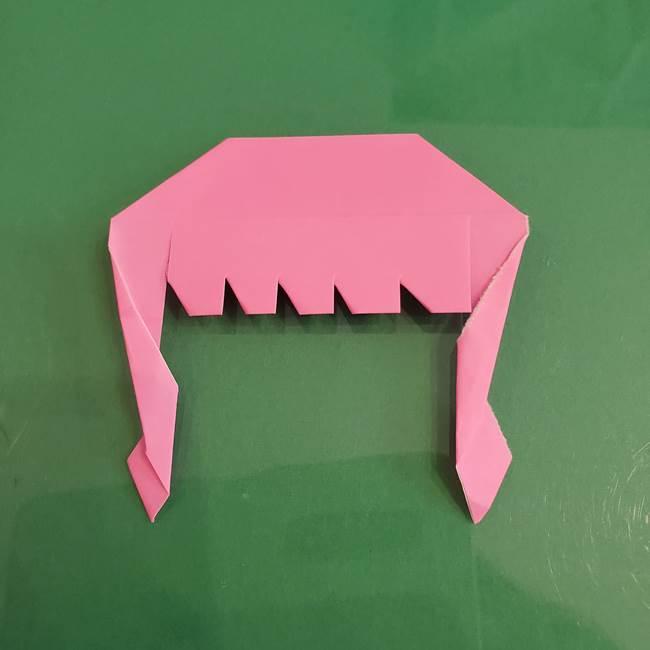 プリキュアのローラ 折り紙の折り方作り方【トロピカルージュ キュアラメール】②前髪(18)