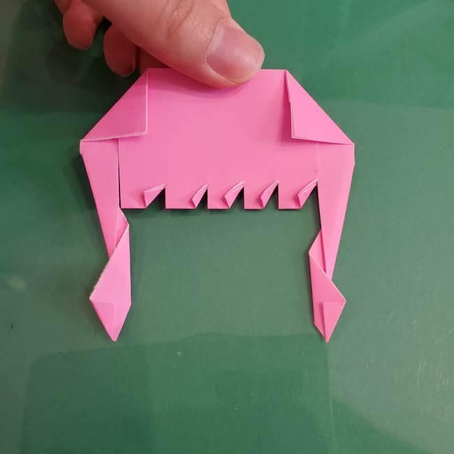 プリキュアのローラ 折り紙の折り方作り方【トロピカルージュ キュアラメール】②前髪(19)