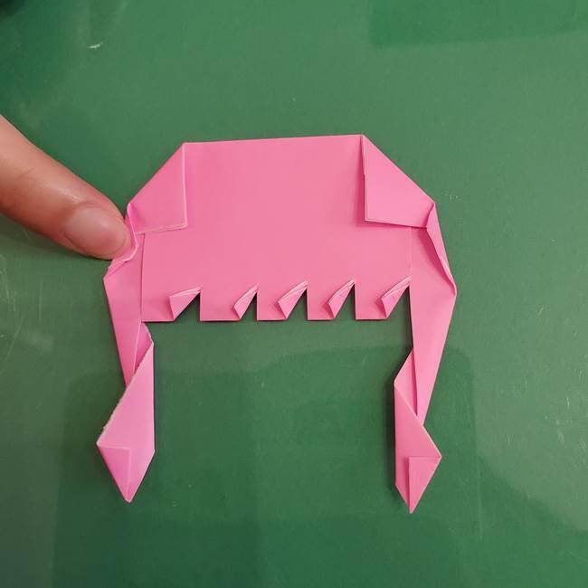 プリキュアのローラ 折り紙の折り方作り方【トロピカルージュ キュアラメール】②前髪(20)