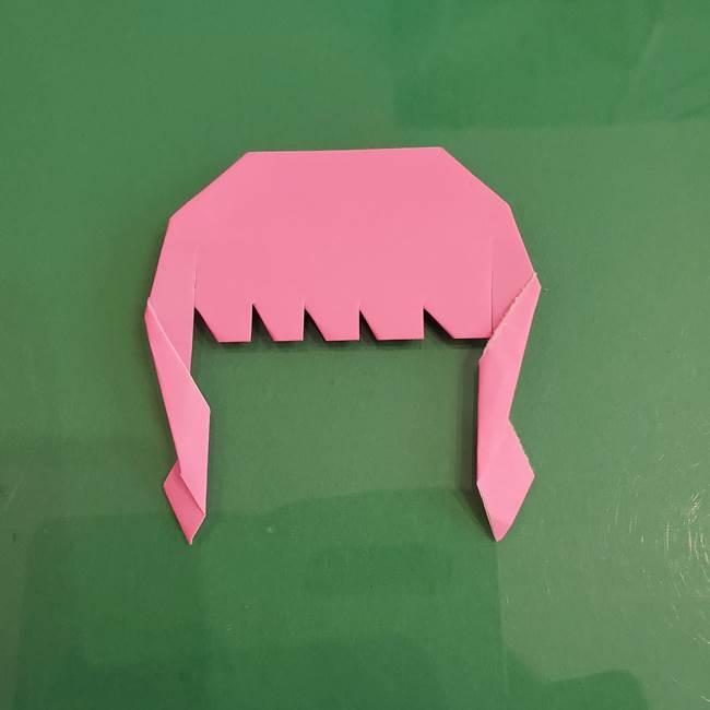 プリキュアのローラ 折り紙の折り方作り方【トロピカルージュ キュアラメール】②前髪(21)
