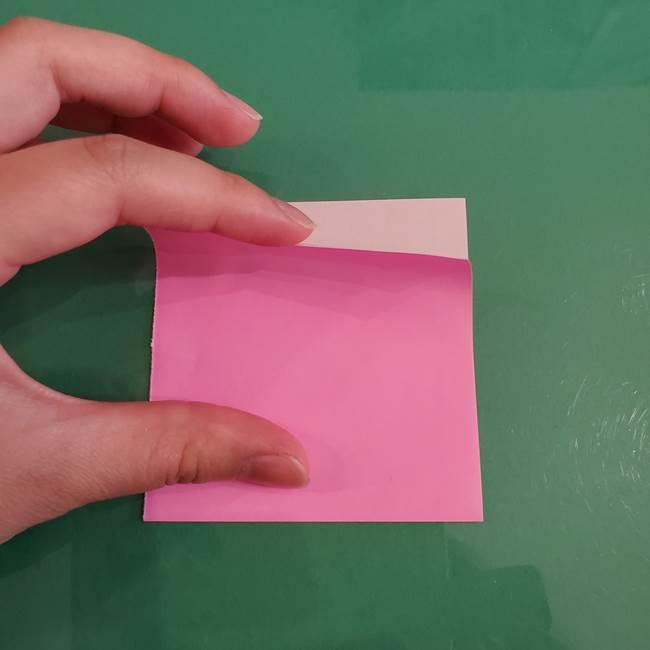 プリキュアのローラ 折り紙の折り方作り方【トロピカルージュ キュアラメール】②前髪(5)