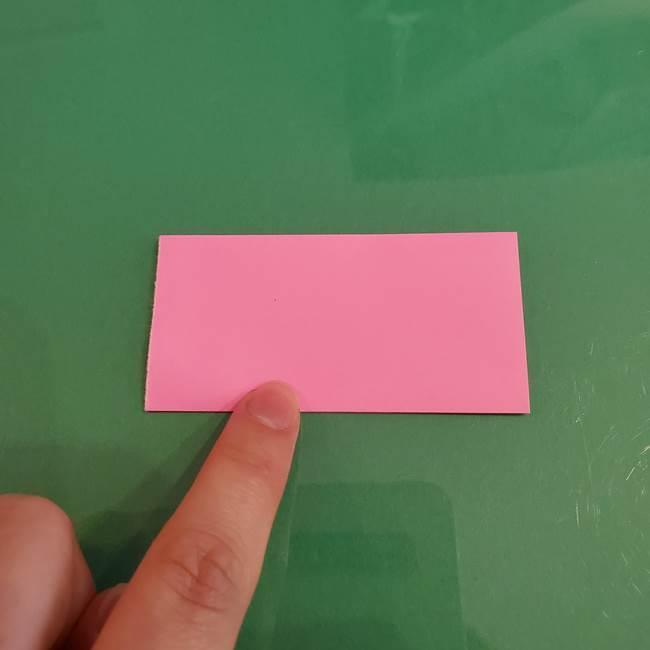 プリキュアのローラ 折り紙の折り方作り方【トロピカルージュ キュアラメール】②前髪(6)