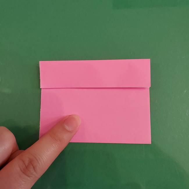 プリキュアのローラ 折り紙の折り方作り方【トロピカルージュ キュアラメール】②前髪(8)