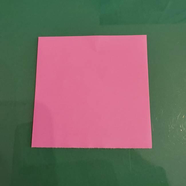 プリキュアのローラ 折り紙の折り方作り方【トロピカルージュ キュアラメール】③後ろ髪(2)
