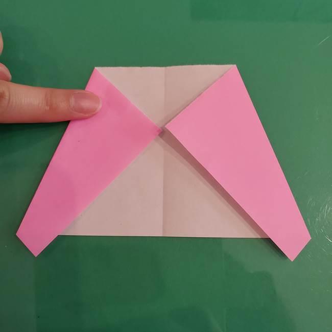 プリキュアのローラ 折り紙の折り方作り方【トロピカルージュ キュアラメール】③後ろ髪(4)