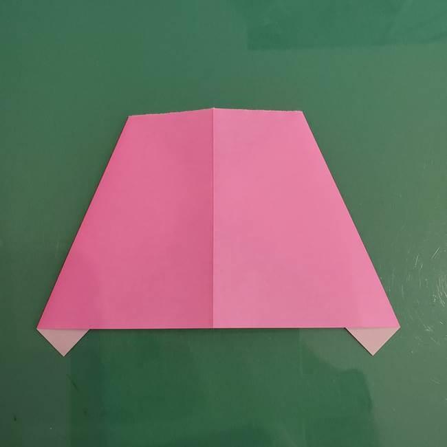 プリキュアのローラ 折り紙の折り方作り方【トロピカルージュ キュアラメール】③後ろ髪(5)
