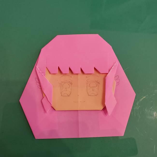 プリキュアのローラ 折り紙の折り方作り方【トロピカルージュ キュアラメール】④完成(10)