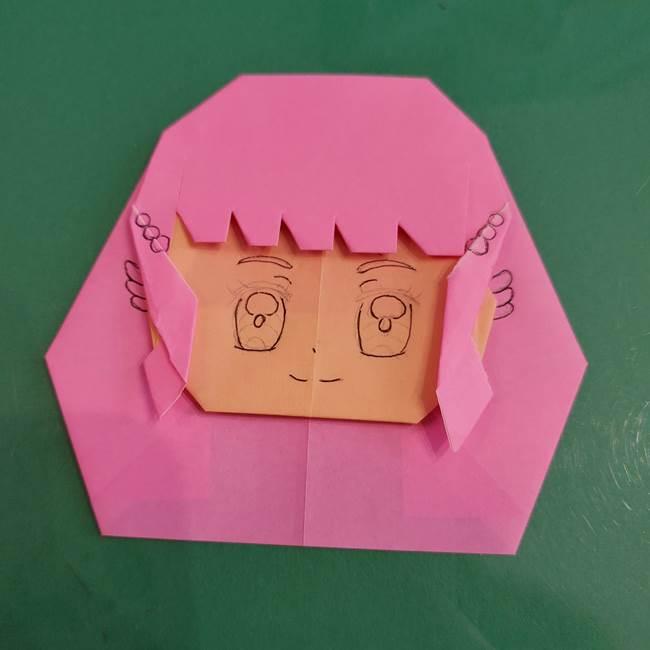 プリキュアのローラ 折り紙の折り方作り方【トロピカルージュ キュアラメール】④完成(11)