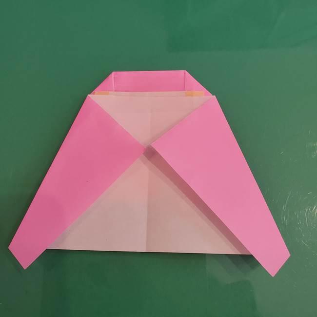 プリキュアのローラ 折り紙の折り方作り方【トロピカルージュ キュアラメール】④完成(6)