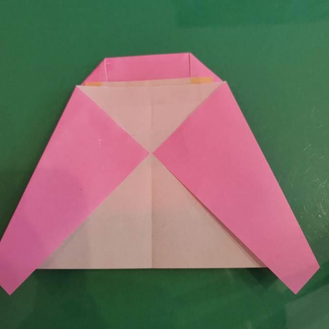 プリキュアのローラ 折り紙の折り方作り方【トロピカルージュ キュアラメール】④完成(7)