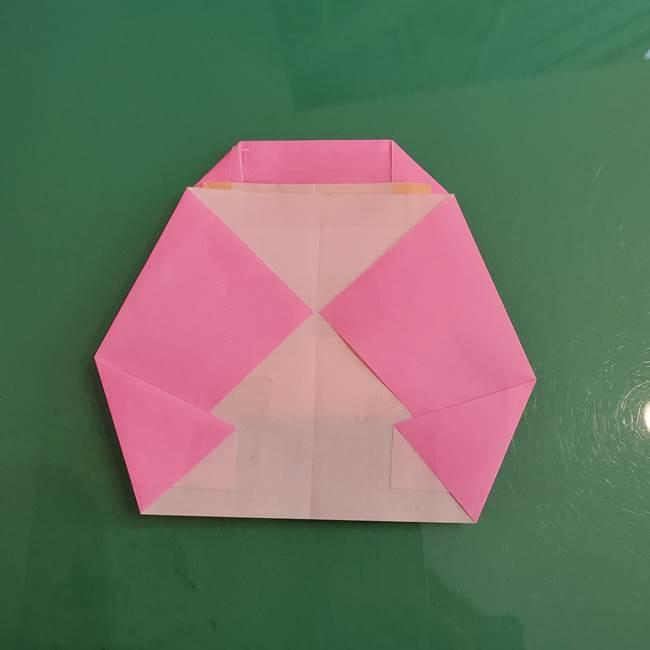 プリキュアのローラ 折り紙の折り方作り方【トロピカルージュ キュアラメール】④完成(8)