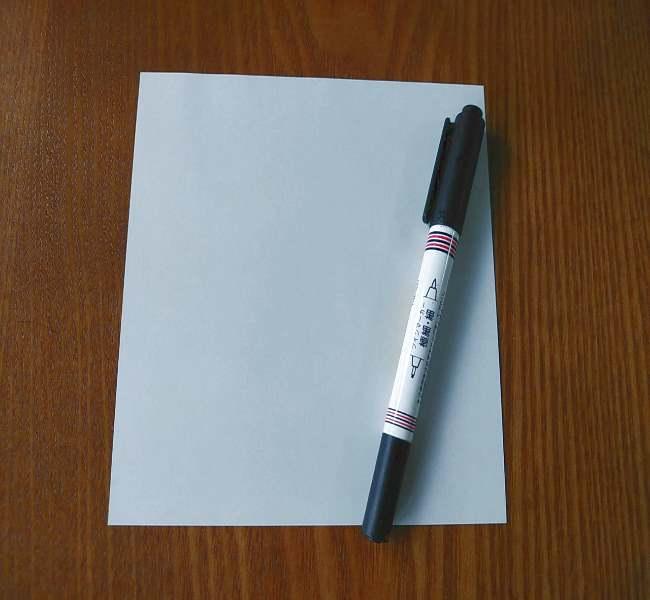 ホラーマンの折り紙☆用意するもの