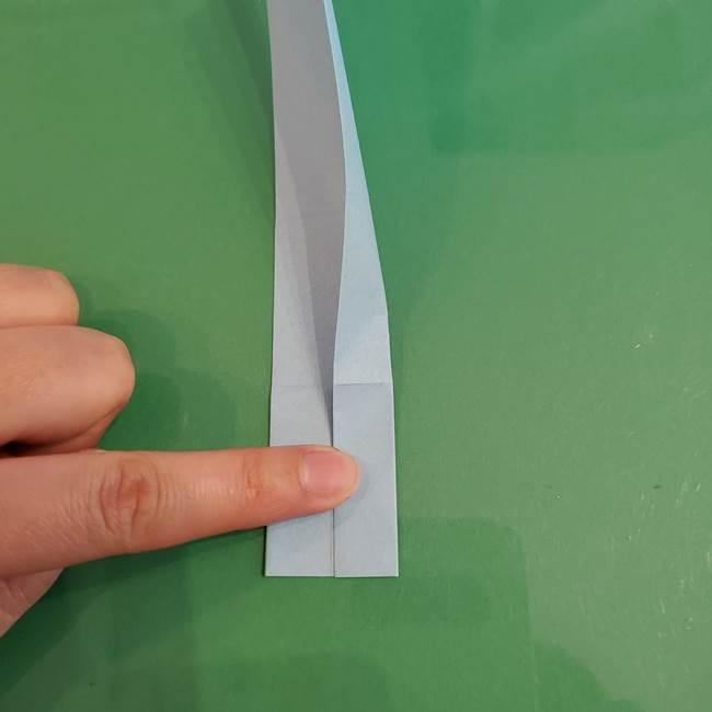 マイクラの折り紙①剣の折り方(10)