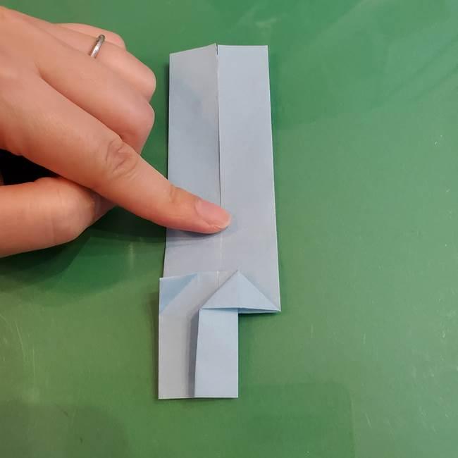 マイクラの折り紙①剣の折り方(21)