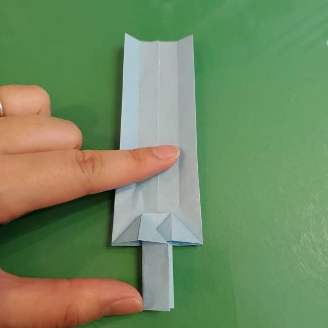 マイクラの折り紙①剣の折り方(24)