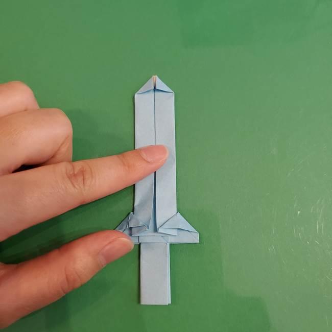 マイクラの折り紙①剣の折り方(35)
