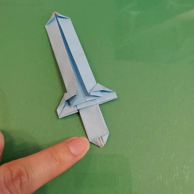 マイクラの折り紙①剣の折り方(36)