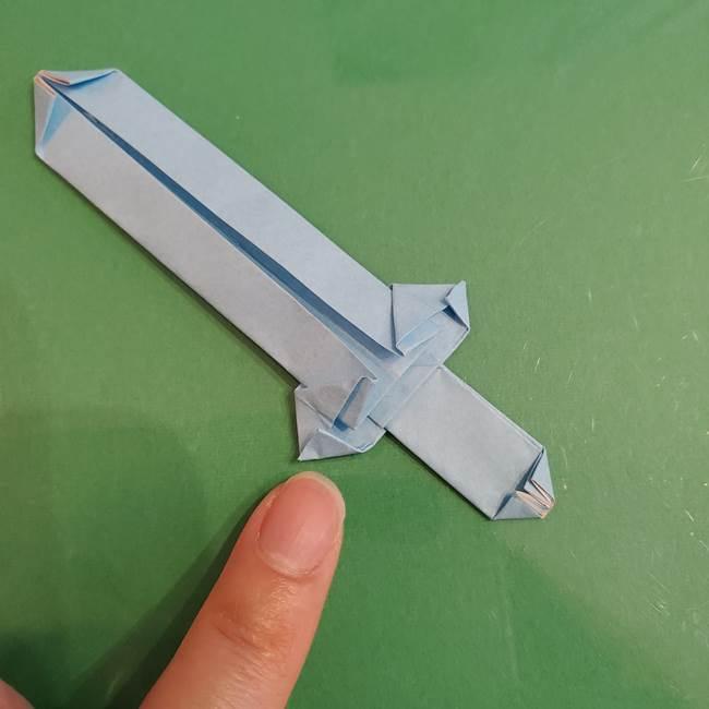 マイクラの折り紙①剣の折り方(37)