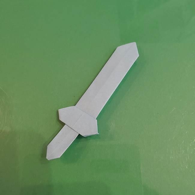 マイクラの折り紙①剣の折り方(38)