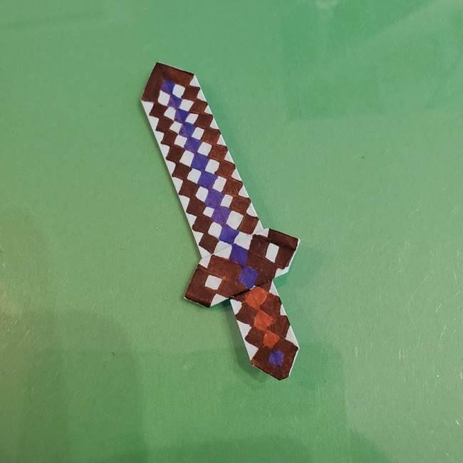 マイクラの折り紙②剣の描き方(3)